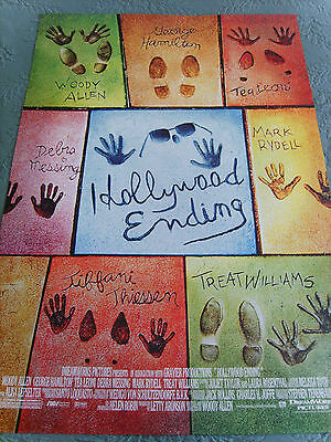 HOLLYWOOD ENDING WOODY ALLEN 2002 US AUTHENTIC ORIGINAL 27x40 DS MOVIE POSTER