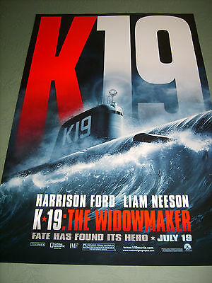 K 19 THE WIDOWMAKER (2002) US AUTHENTIC ORIGINAL 27x40 DS MOVIE POSTER