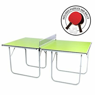 Midsize Ping Pong Table 40 x 70 inches Includes Net Paddles and Balls