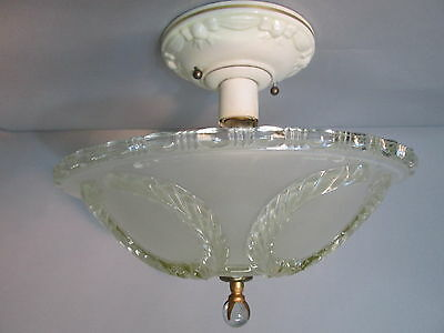 Vintage Antique Art Deco Depression Era Ceiling Light Fixture Chandelier