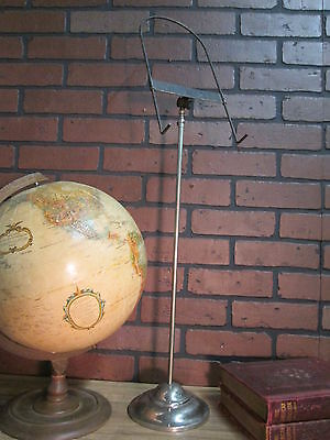 """Vintage Antique Nickeled Store Counter Top Shirt Display Telescoping 31"""" to 48"""""""