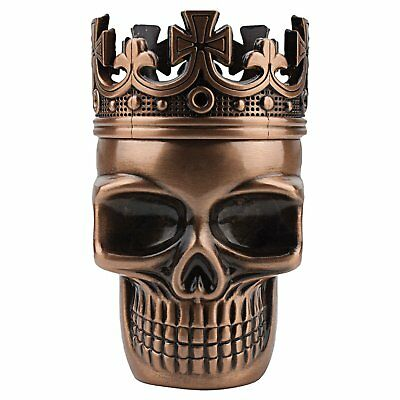 Metal Skull Herbal Grinder Herb Mill Tobacco Kitchen Crusher Metal Red Bronze