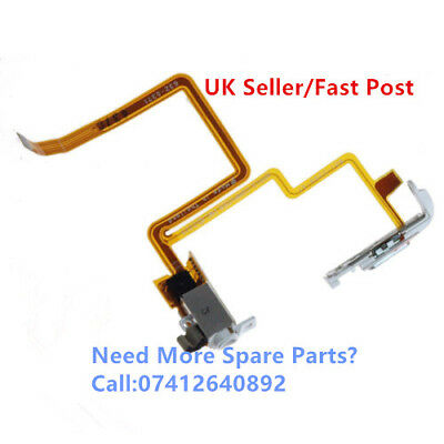 For iPod Video 5th, 6th Audio Headphone Jack Hold Switch Flex Cable White