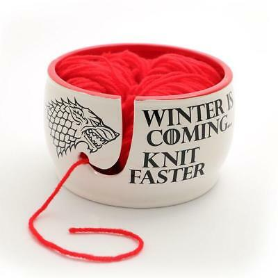 Game of Thrones Yarn Bowl, Winter is Coming Knit Faster