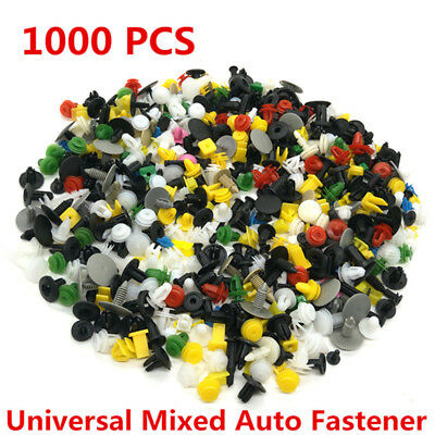 1000 Pcs Mixed  Car Door Bumper Fenders Fastener Retainer Rivet Push Pin Clip