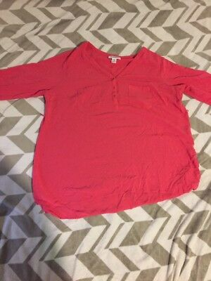 Motherhood Maternity Coral XL Blouse Shirt Pink (Pre Owned)