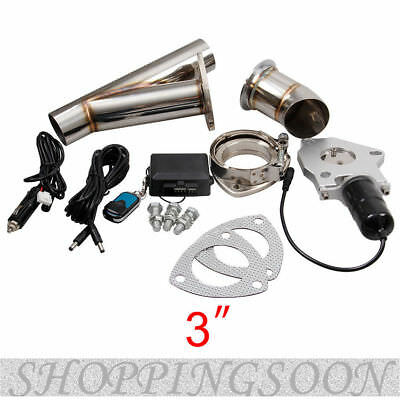 "Hot 3"" Electric Exhaust Downpipe Cutout Cut Out Valve System Kit with Remote"