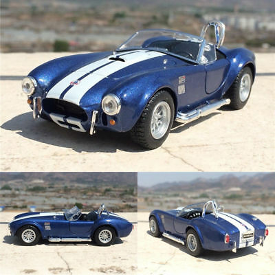 Ford 1965 Shelby Cobra 1:32 Model Car Open two doors Toys Alloy Diecast Blue New