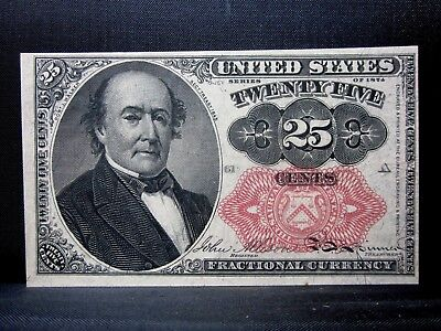 25C Fractional Currency ✪ Uncirculated ✪ 5Th Issue L@@k Cent X77 Unc ◢Trusted◣