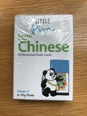 Little Pim Learn Mandarin Chinese 45 Flashcards Volume Two In My Home NEW
