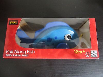 BRIO 30207 Pull Along Fish - Toddler Pull alongs Age 1-2 years /  New in Box