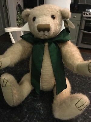 "Pam Howells Handcrafted Harold Teddy  Bear Limited Commission 16"" Moveable Limbs"