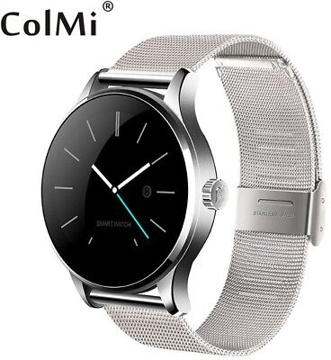 Bluetooth Smart Watch Classic Health Metal Smartwatch Heart Monitor Android IOS