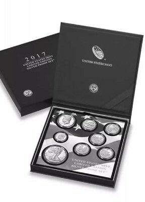 2017 Limited Edition Silver Proof Set with S Mint Proof Silver Eagle In Stock