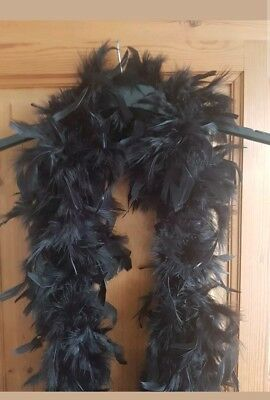 Thick black feather boas