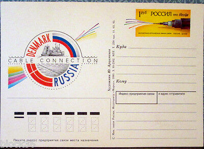 1993 Russian postcard for the DENMARK - RUSSIA CABLE CONNECTION