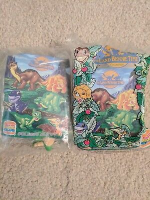 The Land Before Time Toys Burger King Promotion 1997 New In Packag Cera & Spike