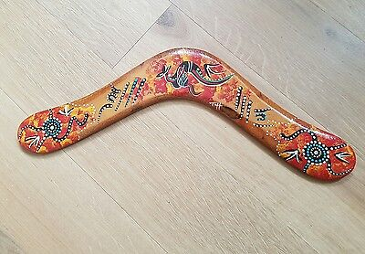 Boomerang hand painted kangaroo Australia Australian souvenir outdoor activities