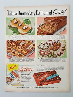 1962 Dromedary Pitted Dates Salad Bread Confections Baking vintage print ad