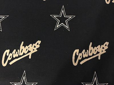 """Fabric NFL Dallas Cowboys 58/60"""" Wide 100% Cotton New By The Half Yard Quilter"""