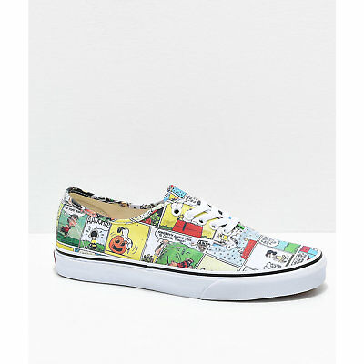 bd808106fa Vans x Peanuts Authentic Comics Skate Shoes Charlie Brown Snoopy Mens Women