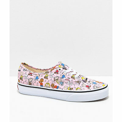 6b602529a10 NEW Vans x Peanuts Authentic Dance Pink   White Skate Shoes Charlie Brown  Snoopy