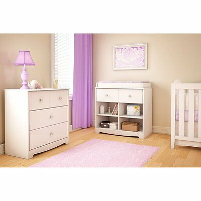 South Shore Little Jewel 3 Drawer Chest - White