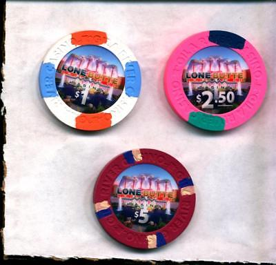 Gila River  Lone Butte  AZ NEW CHIPS ISSUED (3 included) $1  $2.50 and $5