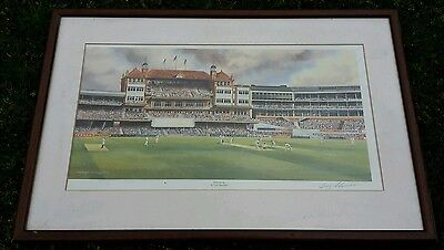 """ The Oval "" cricket print collect Felixstowe near ipswich"