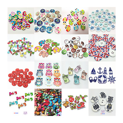 WHOLESALE 25000+ pieces Wood Sewing Decorative Buttons Embellishments Crafts Scr