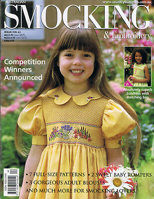 AUSTRALIAN SMOCKING & EMBROIDERY issue 62 RARE ISSUE