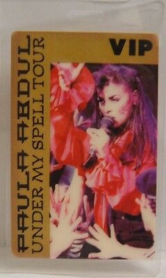 Paula Abdul - Original Tour Laminate Concert Backstage Pass