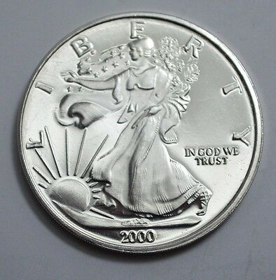 2000 Liberty/The Dawn of New Millennium 1oz.999 fine silver round,Am.Eagle front