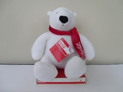 "New Coca Cola Plush Polar Bear 9"" NWT FREE SHIPPING"
