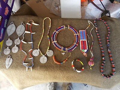 Lot Of Vintage,african,massai,jewelry,and Parts