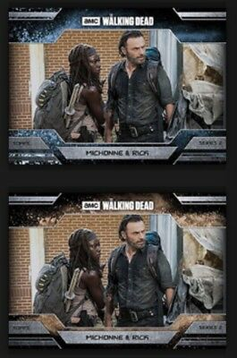 Michonne & Rick-Allegiance-Ice/dust-Topps Walking Dead Card Trader