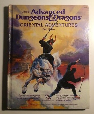 Vtg Advanced Dungeon & Dragons Oriental Adventures TSR 1985 Hardcover Book AD&D