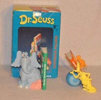 Dr. Seuss Bookends - Horton Hears A Who - with Original Box Hard to Find Vandor