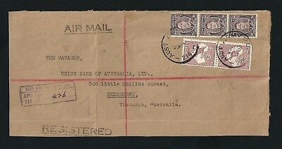 BCOF Japan Registered Cover Front Aust Army PO 214 Postmark to Melbourne 2/- Roo
