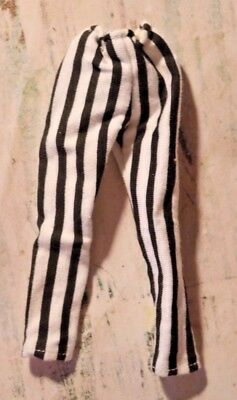 Jem and the Holograms Jetta Doll black & white striped pants 1987