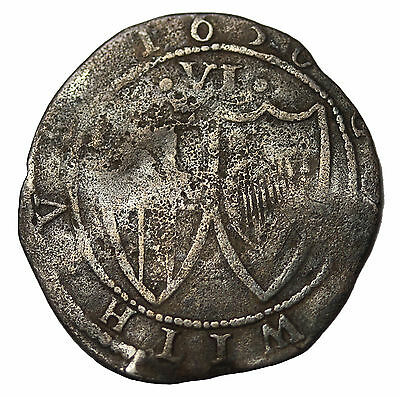 Great Britain The Commonwealth 1656 AD Silver Sixpence Medieval Coin S.3219