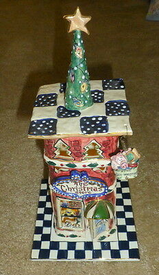 Blue Sky Clayworks Heather Goldminc THE CHRISTMAS STORE T-Lite Holder 2001 RARE