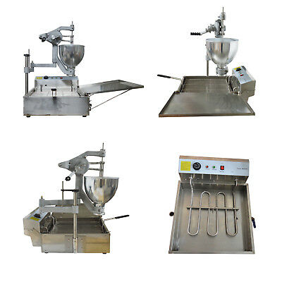 110V Heavy Duty Commercial Manual Breakwater Donut Fryer Maker Making Machine