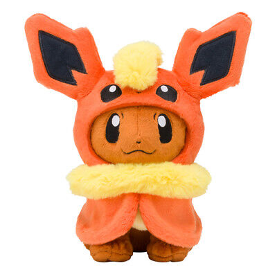 [Japan Pokemon Center Limited] Plush Doll Flareon Eevee Poncho series