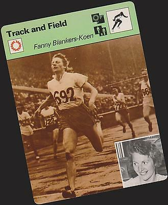 1977 Fanny Blankers-Koen Sportscaster Card #01-09 First Printing Mint