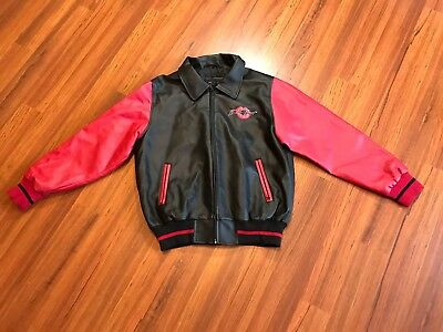Vintage Betty Boop Jacket by Authentic Apparel Size Large Black and Red