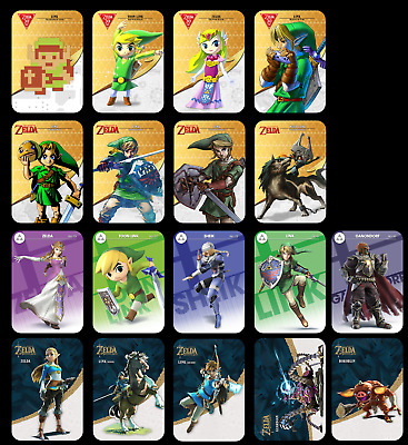 The Legend of Zelda Amiibo Cards - Single and sets BOTW - Made in the UK