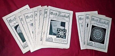 Lot Of 13 Vintage 1948 1949 The Workbasket Home & Needle Craft  Projects Patters