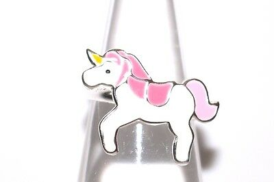 925 Sterling Silver Children Pink Unicorn Rings