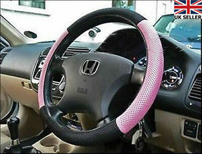 Sexy Girls Car Steering Wheel Cover in Pink & Black Pink Car